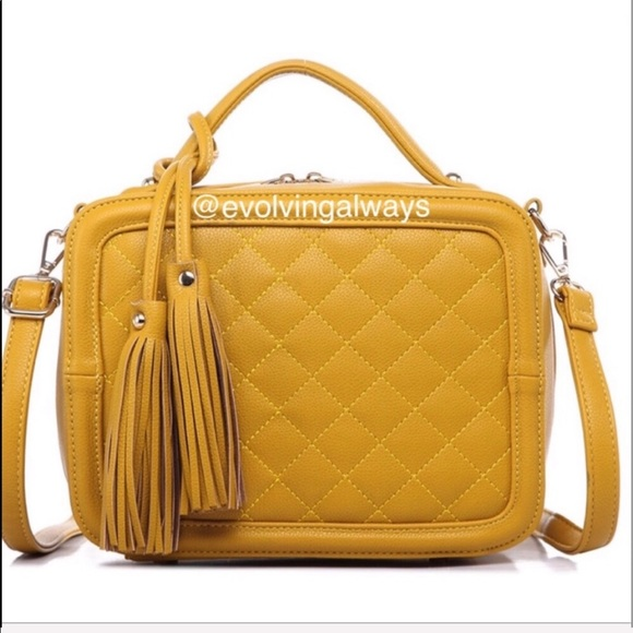 Pink Haley Handbags - Beautiful Lux Bag Gorgeous Mustard Color